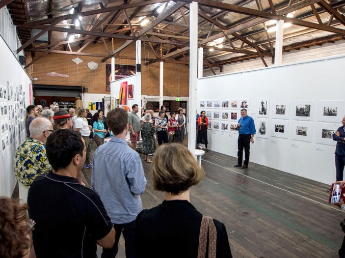 "Doug Spowart opens ""Up Close"" exhibition @ Fireworks Gallery PHOTO: Victoria Cooper"