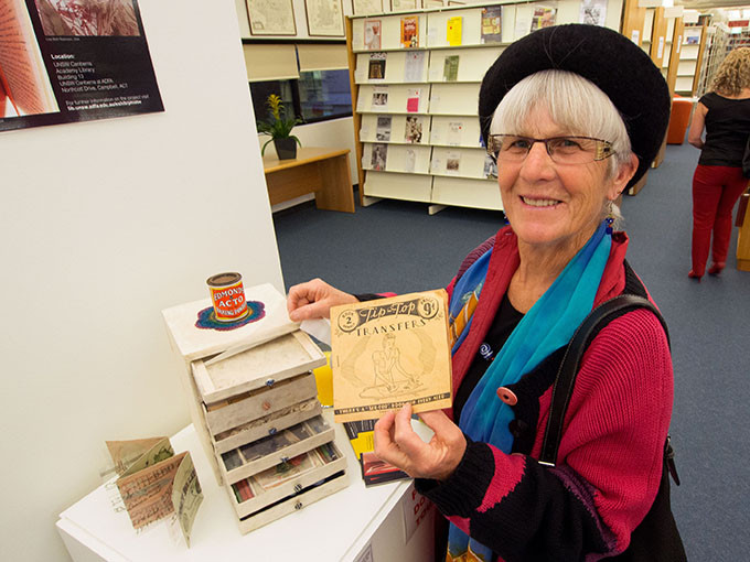 Judy Bourke @ 'Personal Histories' opening Uni NSW, ADFA, Canberra.
