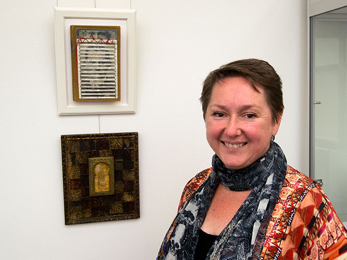 Robyn Foster @ 'Personal Histories' opening Uni NSW, ADFA, Canberra.