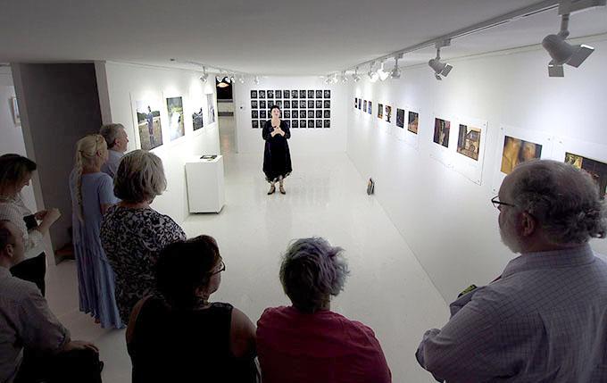 Gillian Jones presenting her floortalk