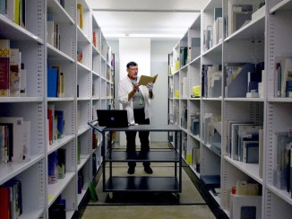Doug Spowart: researcher in the Repository of the State Library of Queensland