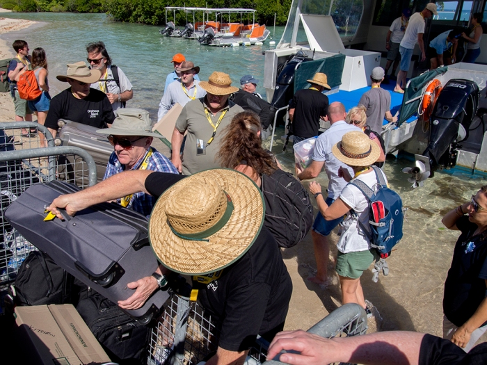The arrival --- unloading the boat