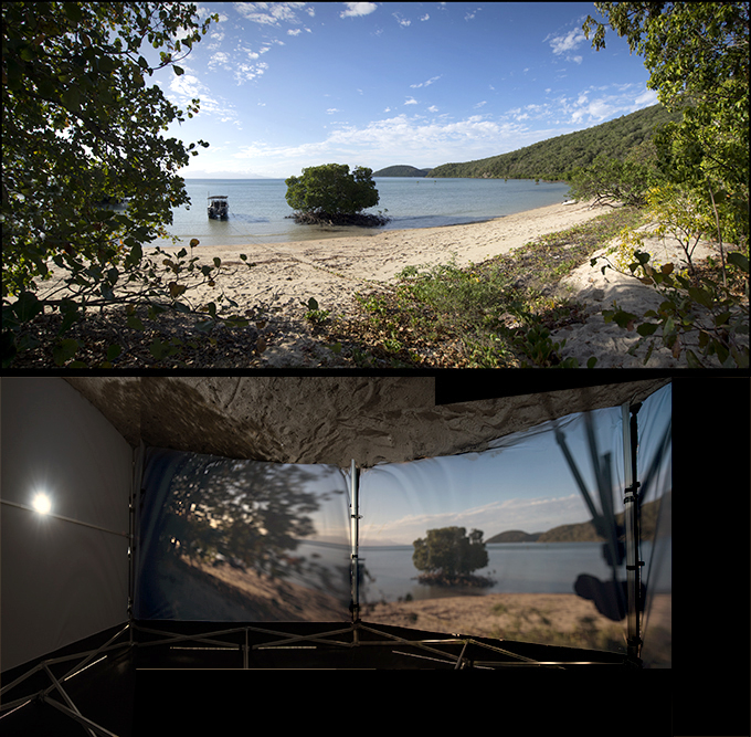 A DUO View of the scene and the Camera Obscura image