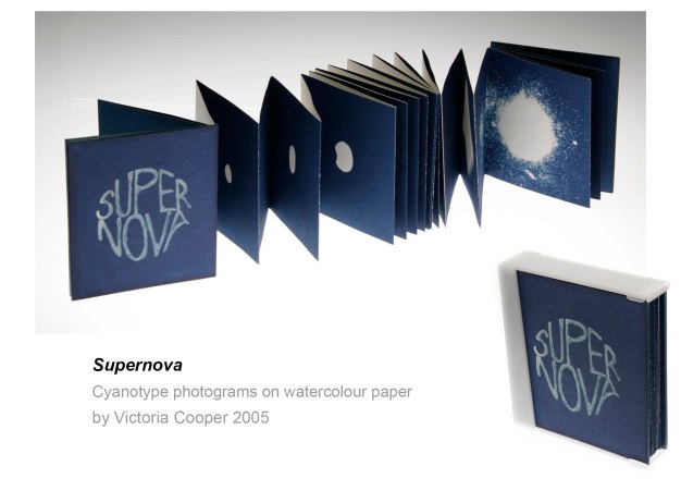 Super Nova a cyanotype book by Victoria Cooper