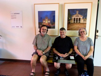 Nocturne Armidale images in tthe council chambers with Neil Burton Photo: Lindy Burton