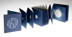 Super Nova a cyanotype artists' book by Victoria Cooper