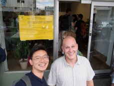 Queensland visitors Louis Lim and Chris Bowes