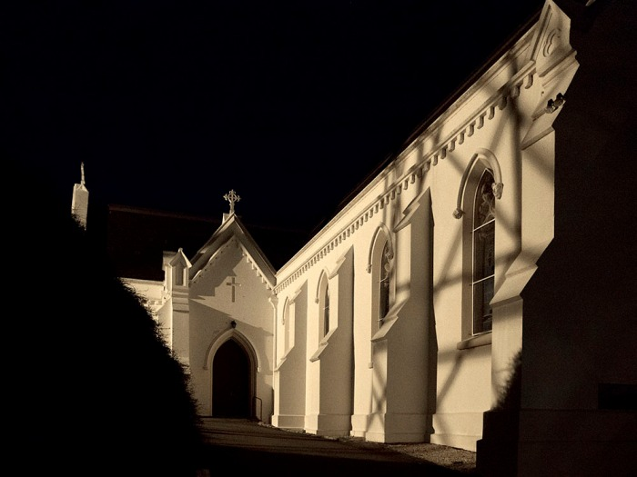 St Mary's Church with shadows