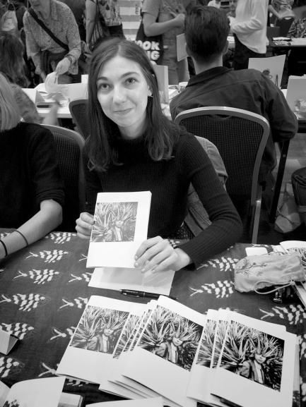 Claire Wakeford and her zine