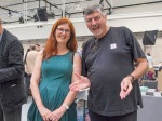 Regina Maria Anzenberger and Doug Spowart at the Vienna Photobook Festival PHOTO: Doug Spowart – 2017 Vienna Photo BookFestival