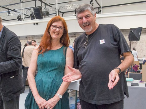 Regina Maria Anzenberger and Doug Spowart at the Vienna Photobook Festival PHOTO: Doug Spowart