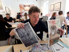 Gerry Badger in review with us at the Vienna Photobook Festival PHOTO: Doug Spowart