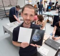 Valentyn Odnoviun with his book 'Surveillance'