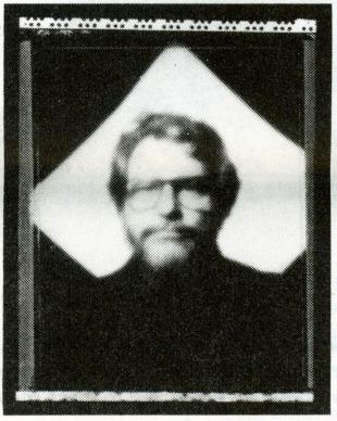 Pinhole portrait of Ian Poole 1993