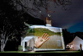 Pulpit Rock Projection – Bundanon Homestead: Cooper+Spowart