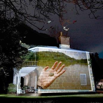 Pulpit Rock Projection – Bundanon Homestead: Cooper+Spowart