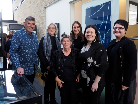 At the Monash Gallery of Art at the opening of the cyanotype exhibition 'In Anna's Garden'