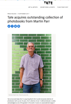 Tate Media post about Parr doantion