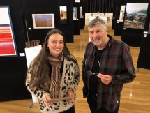 Beata Batorowicz + Doug judging the Somerset Art Award 2019 Photo: Victoria Cooper