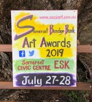 Somerset Bendigo Bank Art Awardssign