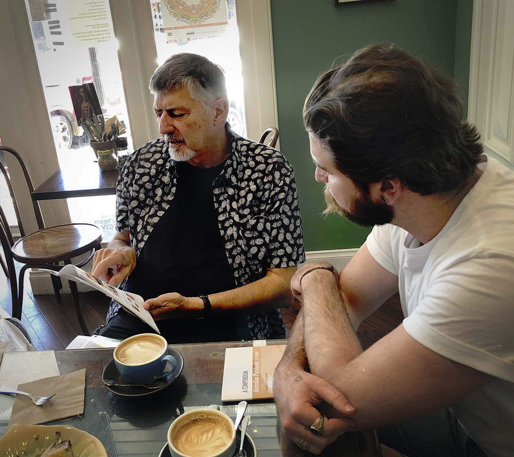 Doug meeting with Aaron Bradbrook