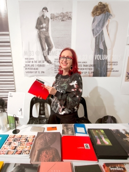 Helen Frajman of M.33 at the Volume Art Book Fair