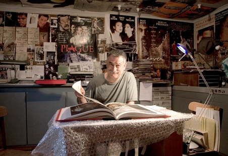 Peter Lyssiotis in his studio