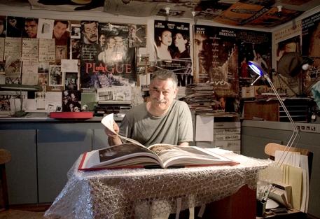 Peter Lyssiotis in his studio