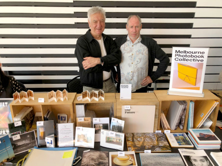 Mike Reed(Left) + William Stewart Melb Photobook Collective