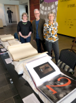 The State Library of Victoria team – Madeleine Say, Des Cowley & AnnaWelch