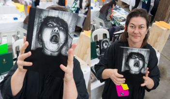 Meg Hewitt at Volume Art Book Fair