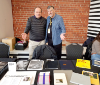 Stavros Messines + Doug on the ANZPA table Photo: James Bugg