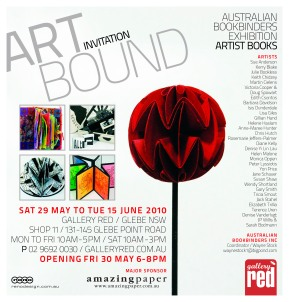 2010 – EXHIBITED: 'Art Bound', Red Gallery, Glebe, Sydney