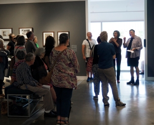 Doug talking about photos in the Gallery – PHOTO: Victoria Cooper