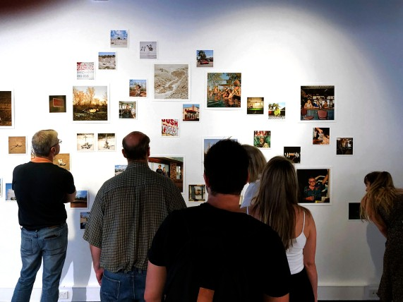 Gallery visitors at the exhibition opening ... PHOTO: Doug Spowart