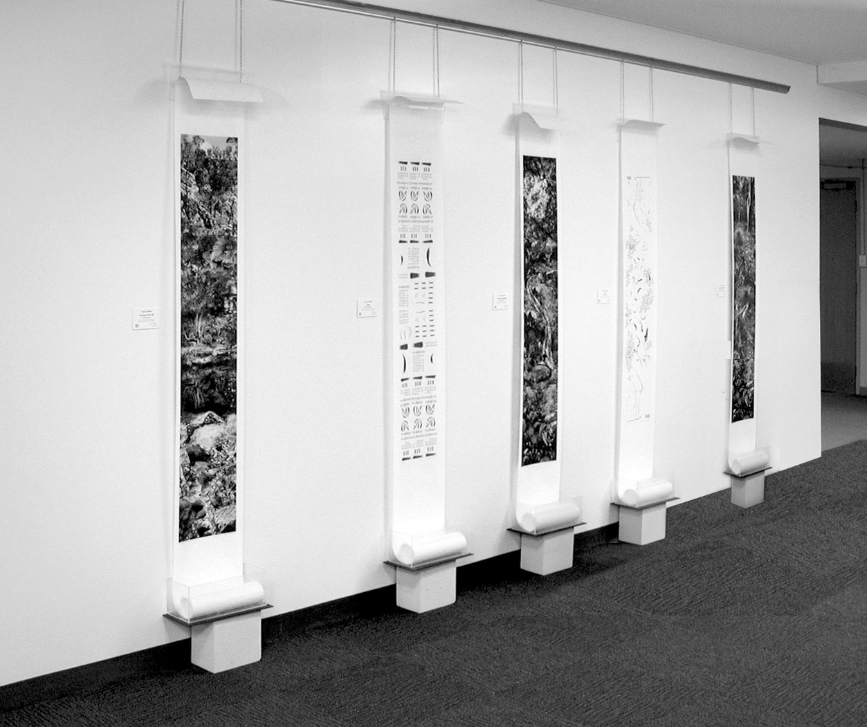 Installation of Victoria Cooper's Five Stories of the Gorge