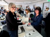 ABBE Artists Book Fair 2015-Marian Crawford and Sarah Bodman