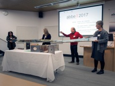 Wim de Vos presenting at ABBE Artists Book Conference 2017 at the Queensland College of Art