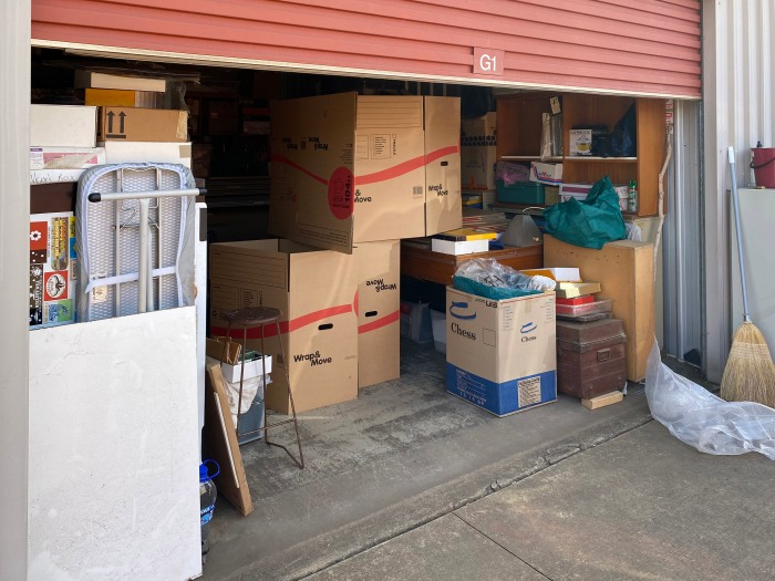 Our shed showing the box stack and the camera obscura