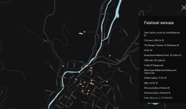 Art sites map