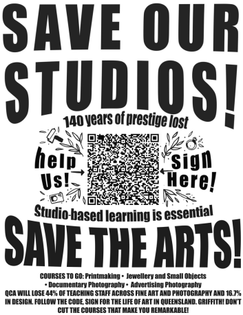 Save our Studios Poster by Isobelle Dwyer