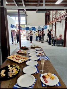 Catering at exhibition PHOTO David Symons