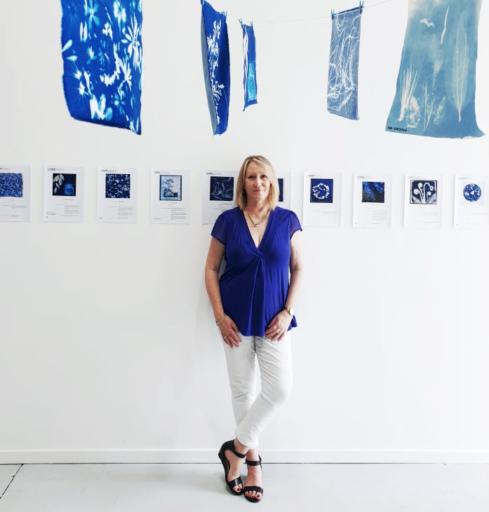 Gail in the gallery