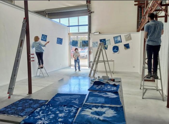 Installing the exhibition 2 PHOTO David Symons
